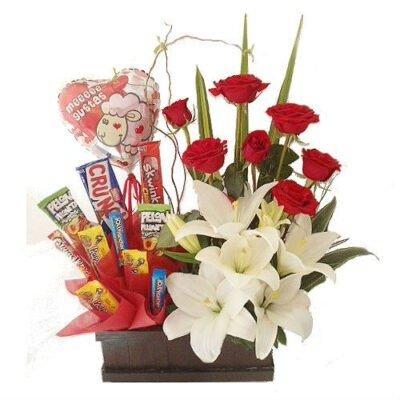dulces y flores