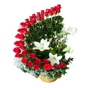 espiral de 40 rosas