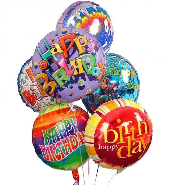 Ramillete de globos feliz cumpleaños