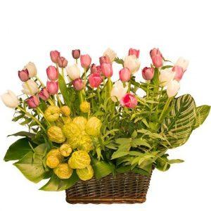 canasta-tulipanes