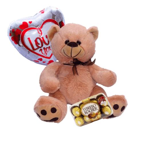 Oso, Chocolates y Globo
