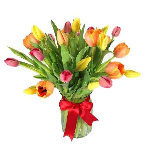 30 tulipanes en florero