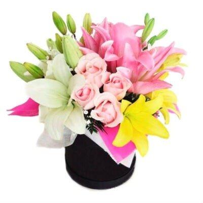 flores en caja