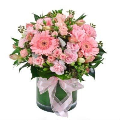 gerberas y rosas