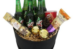 Caja especial navideña con cervezas