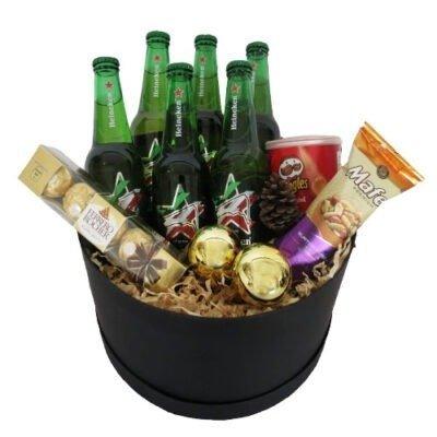 Caja cervecera navideña