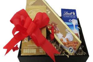 caja con chocolates lindt